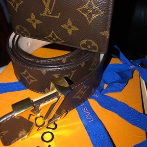 Other - Louis Vuitton belt and wallet combo drip